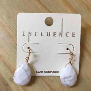Jewelry - Influence | Faux Marble teardrop earrings
